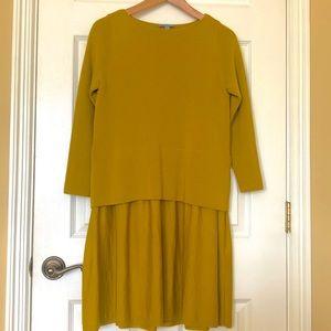 Chartreuse / Mustard Wool Dress